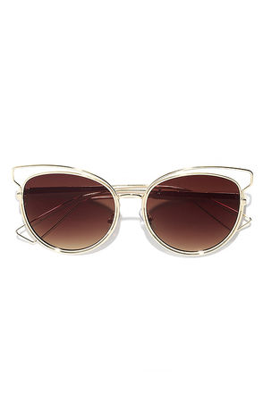 Over and Outlined Rose Gold and Pink Sunglasses at Lulus.com!