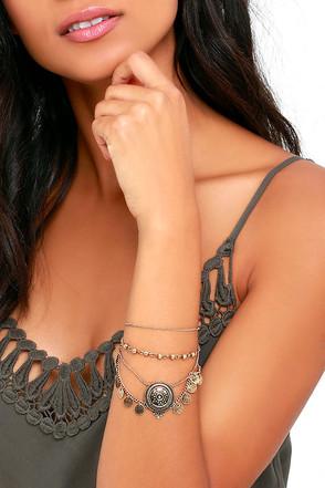 Play Date Gold Bracelet at Lulus.com!