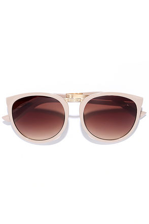 Modish Taupe Sunglasses at Lulus.com!