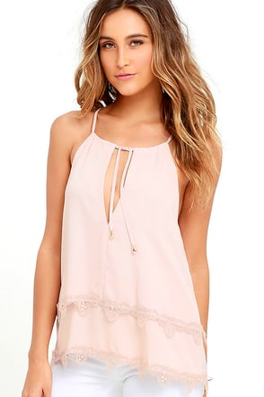 A Love Like This Blush Pink Lace Top at Lulus.com!