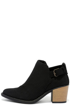 Abbey Road Black Ankle Booties at Lulus.com!
