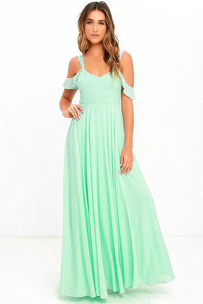 Romantic Fantasy Mint Green Maxi Dress at Lulus.com!