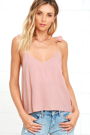 Demure Allure Blush Top at Lulus.com!
