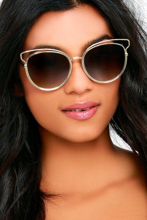 Over and Outlined Silver and Grey Sunglasses at Lulus.com!