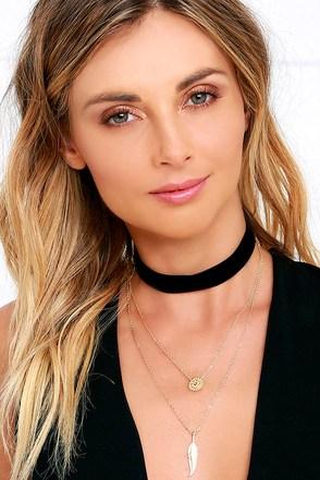 Mesmerizing Madame Black and Gold Layered Choker Necklace at Lulus.com!