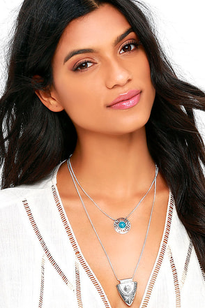 Western Wonder Turquoise and Silver Layered Necklace at Lulus.com!