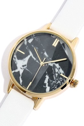 Carrara Gold and White Watch at Lulus.com!