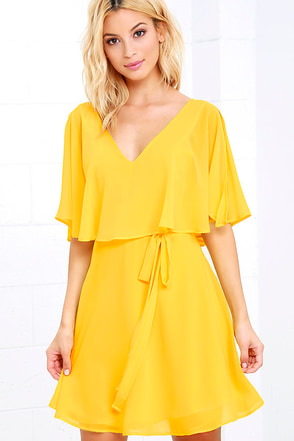 Butterfly With Me Yellow Dress at Lulus.com!