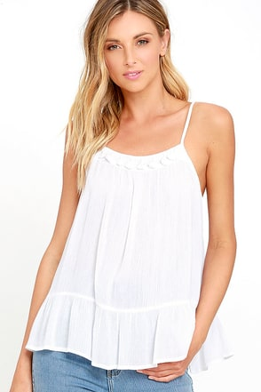 Sunny Spin Ivory Top at Lulus.com!