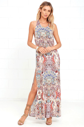 Mosaic Masterpiece Cream Print Maxi Dress at Lulus.com!