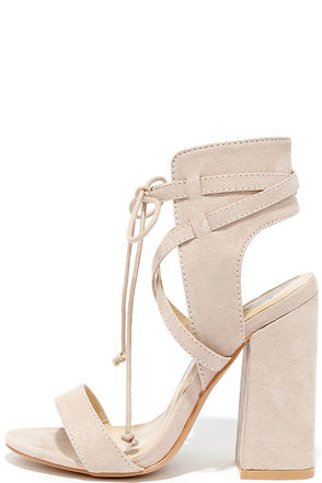 Share a Smile Olive Suede Lace-Up Heels at Lulus.com!
