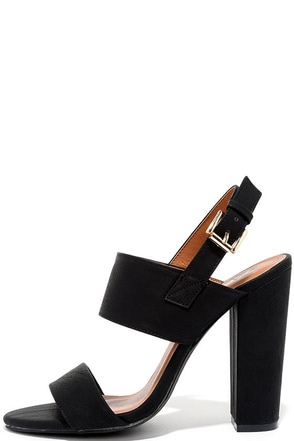 Fay 1 Black High Heel Sandals at Lulus.com!
