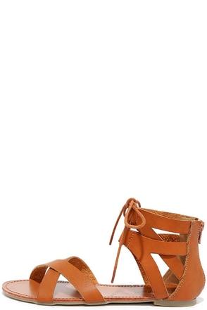 Making History Tan Flat Sandals at Lulus.com!