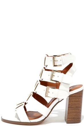 On My Way White Caged Heels at Lulus.com!