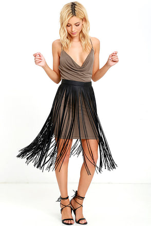 Wind and Where Black Fringe Belt at Lulus.com!