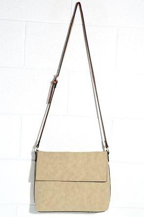 Darling Clementine Beige Suede Crossbody Purse at Lulus.com!