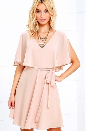 Butterfly With Me Peach Dress at Lulus.com!
