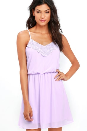 I'll Be There for You Lavender Lace Dress at Lulus.com!