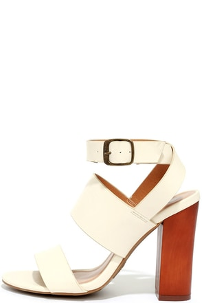Wonder and Wishes Ivory High Heel Sandals at Lulus.com!