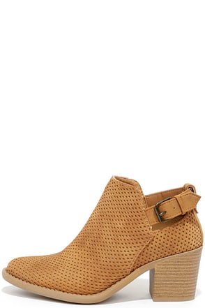 Abbey Road Tan Ankle Booties at Lulus.com!
