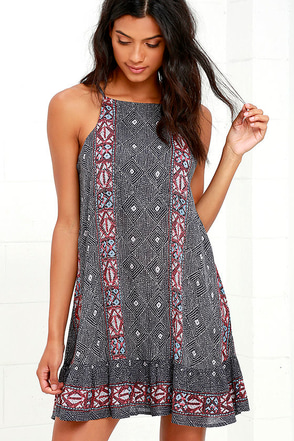 Waikiki Kisses Grey Print Dress at Lulus.com!