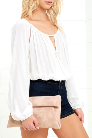 Day to Day Taupe Clutch at Lulus.com!