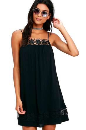 Western Winds White Lace Shift Dress at Lulus.com!