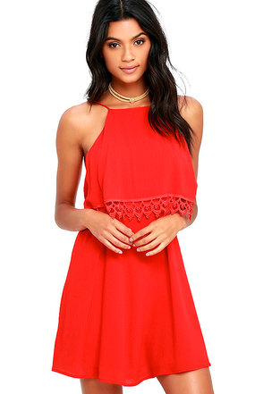 Flamenco Fling Red Lace Dress at Lulus.com!