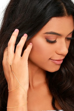 Graceful Delicacy Gold Hand Chain at Lulus.com!