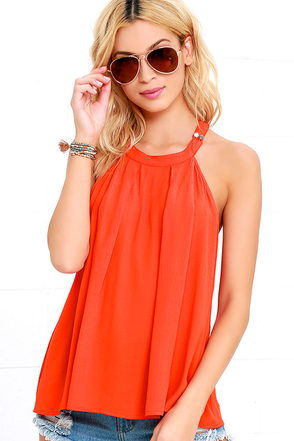 Morning Lullaby Orange Top at Lulus.com!