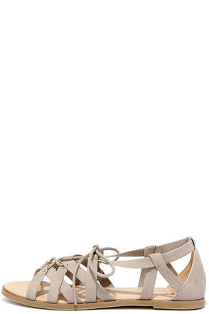 Return to Rome Tan Gladiator Sandals at Lulus.com!