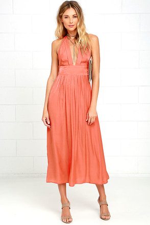 Somedays Lovin' Ludo Burnt Orange Midi Dress at Lulus.com!