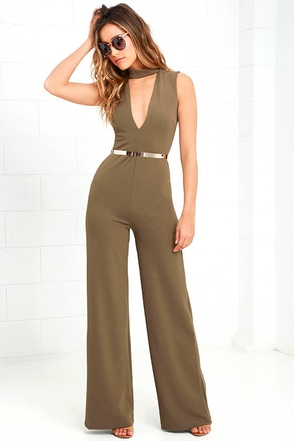 Sweetest Slice Olive Green Jumpsuit at Lulus.com!