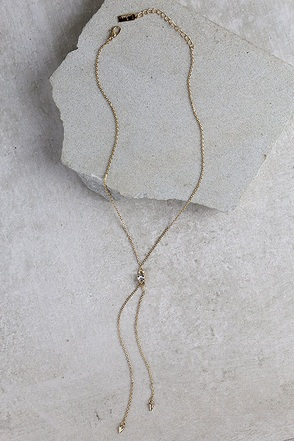 Point of Grace Gold Drop Necklace at Lulus.com!