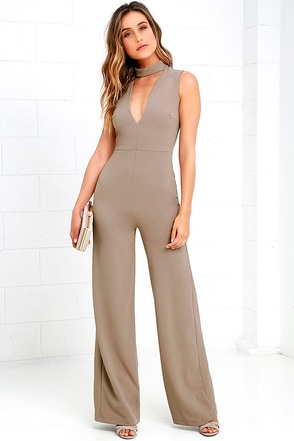 Sweetest Slice Mocha Brown Jumpsuit at Lulus.com!