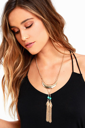 Carry Me Away Gold Necklace at Lulus.com!