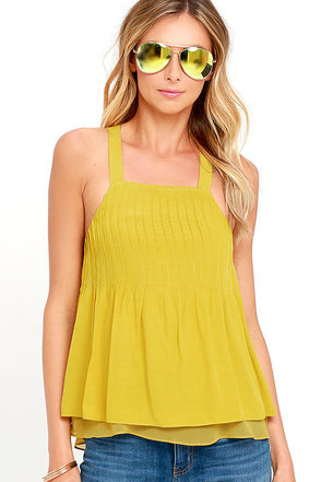 Absolutely Elated Chartreuse Top at Lulus.com!