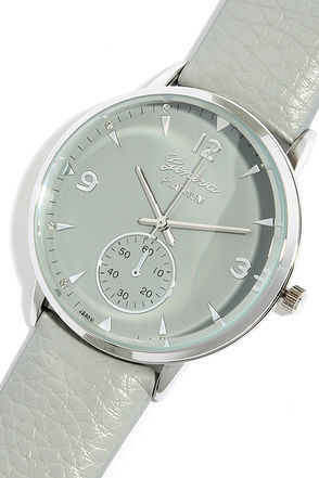 Take Your Time Silver and Grey Watch at Lulus.com!