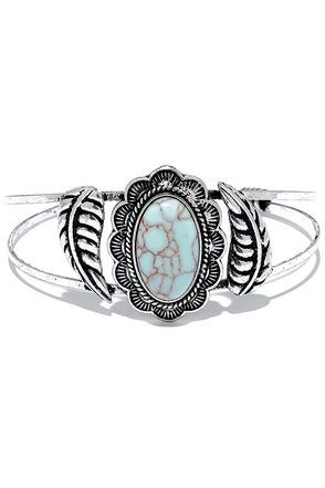 Let It Go Turquoise and Silver Bracelet at Lulus.com!