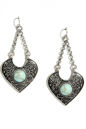 Mountain Viewpoint Turquoise and Silver Earrings at Lulus.com!