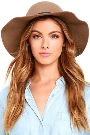 RVCA Sunner Brown Hat at Lulus.com!