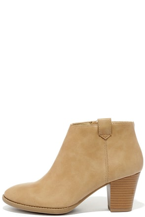 Sidewalk Strut Taupe Ankle Booties at Lulus.com!