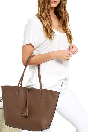 I've Got a Feeling Cream and Brown Reversible Tote at Lulus.com!