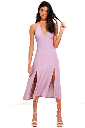 Live in the Moment Mauve Midi Dress at Lulus.com!