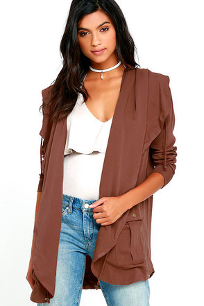 Billabong No Boundaries Brown Jacket at Lulus.com!