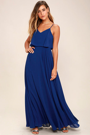 Love Runs High Navy Blue Maxi Dress at Lulus.com!