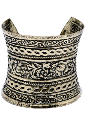 Queen of the Kingdom Silver Cuff Bracelet at Lulus.com!