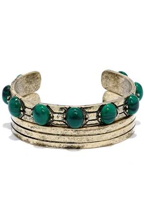 Aruba Ready Gold and Green Bracelet Set at Lulus.com!