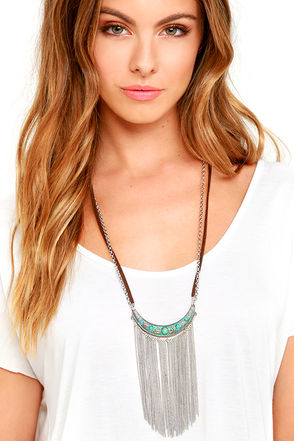 Sly Fox Brown and Silver Necklace at Lulus.com!