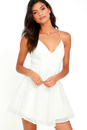 Promise Me Forever White Lace Skater Dress at Lulus.com!